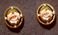 Porcelain Rose earrings
